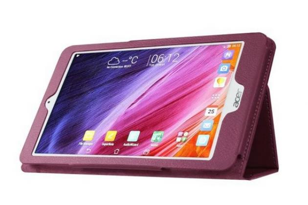 Чехол для Acer One 8 B1-820/821/B1-830 фиолетовый кожаный