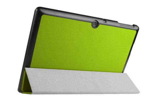 """Фирменный умный чехол-книжка самый тонкий в мире для Acer Iconia Tab A3-A30/A31  """"Il Sottile"""" зеленый кожаный"""