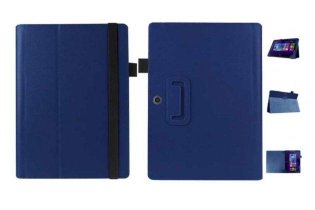 Чехол для Acer Aspire Switch 10 E SW3-013 / 12TJ/1812 10.1 синий кожаный