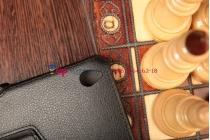 """Фирменный чехол открытого типа без рамки вокруг экрана с мульти-подставкой для Acer Iconia Tab W4-820/W4-821 черный кожаный """"Deluxe"""""""