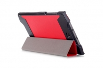 """Фирменный умный тонкий легкий чехол для Acer Predator 8 GT-810 """"Il Sottile"""" красный пластиковый"""