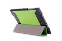 """Фирменный умный тонкий легкий чехол для Acer Predator 8 GT-810 """"Il Sottile"""" зеленый пластиковый"""
