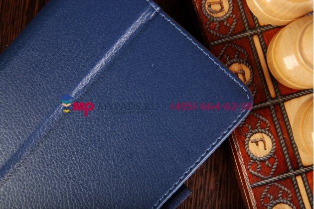 Фирменный чехол-обложка для Acer Iconia Tab A1-713HD синий кожаный
