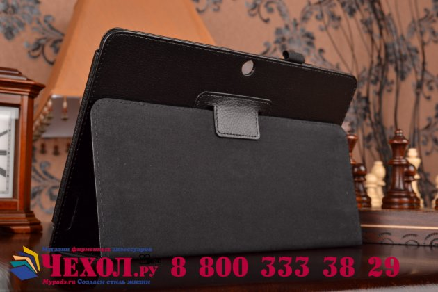 Фирменный чехол обложка для Acer Iconia Tab A3-A20/A3-A21 черный кожаный