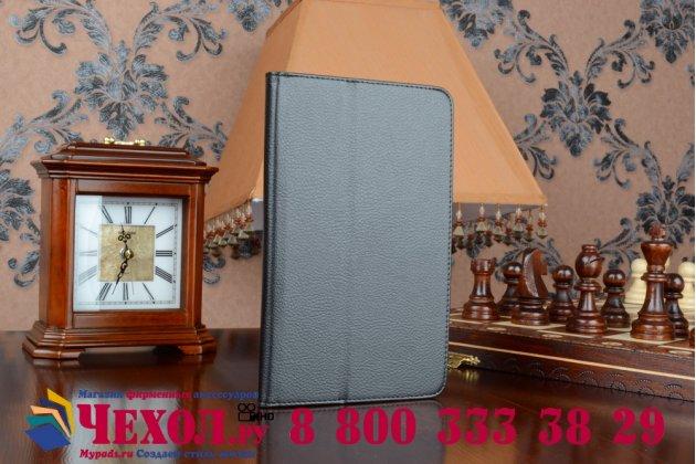 Фирменный оригинальный чехол обложка с подставкой для Acer Iconia Tab 8W W1-810 черный кожаный