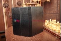 Чехол-обложка для iPad Maxi черный кожаный