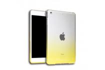 """Фирменная из тонкого и лёгкого пластика задняя панель-чехол-накладка для iPad Pro 9.7"""" прозрачная с эффектом песка"""