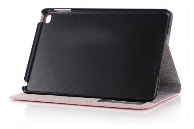 Фирменный чехол для iPad Mini 4 лаковая кожа крокодила розовый