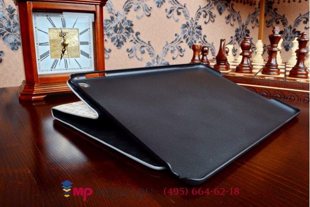 Фирменный чехол-футляр для iPad Air 2 MH1C2/G2/172/182/MGCX2/MGHY2/MGLW2/12/MGWM2/MGKM2/MGTY2/MGTX2 лаковая кожа крокодила серый
