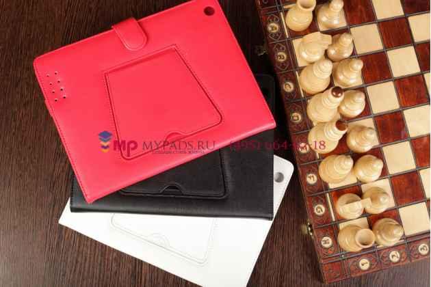 Чехол со съёмной Bluetooth-клавиатурой для Apple iPad 2/3/4 красный кожаный + гарантия