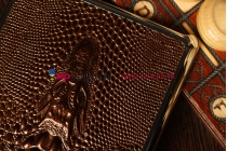 Задняя панель-крышка для iPad mini с объёмным изображением крокодила бронзовый