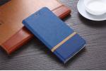 """Фирменный оригинальный чехол-книжка для ASUS ZenFone Go ZB690KG 6.9"""" синий водоотталкивающий"""