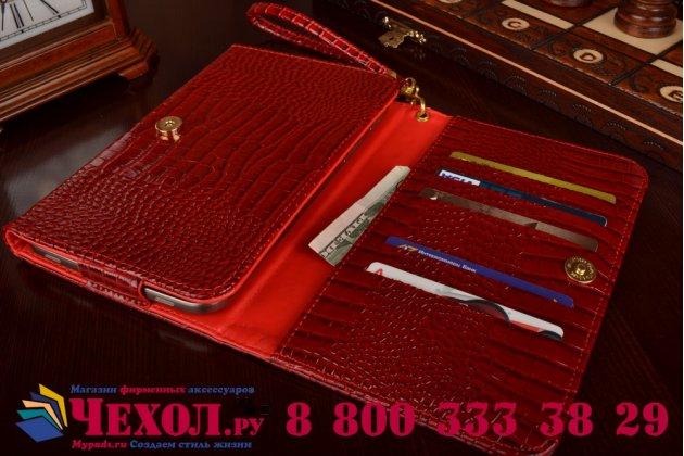 Фирменный роскошный эксклюзивный чехол-клатч/портмоне/сумочка/кошелек из лаковой кожи крокодила для планшетов iPad 2. Только в нашем магазине. Количество ограничено.