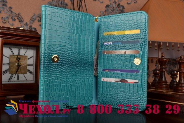 Фирменный роскошный эксклюзивный чехол-клатч/портмоне/сумочка/кошелек из лаковой кожи крокодила для планшетов Acer Iconia Tab 8W W1-810-11ML. Только в нашем магазине. Количество ограничено.