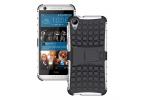 Противоударный усиленный ударопрочный фирменный чехол-бампер-пенал для HTC Desire 650 белый