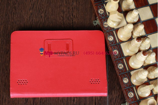 Фирменный чехол-обложка для Acer Iconia Tab A200/A201 красный кожаный