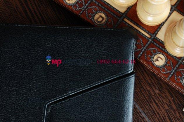 Чехол для Acer Iconia Tab A510/A511 черный кожаный янтарный