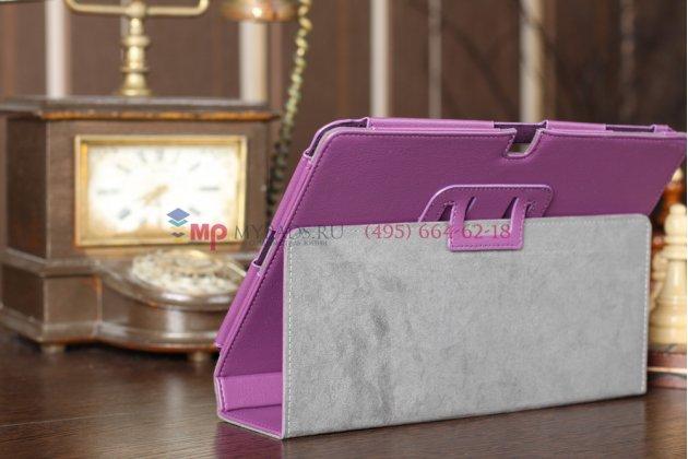 Чехол-обложка для Acer Iconia Tab A700/A701 фиолетовый кожаный