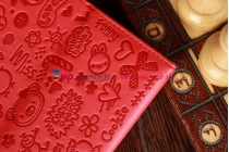 """Чехол для iPad Mini """"тематика Pretty Cute"""" кожаный красный"""