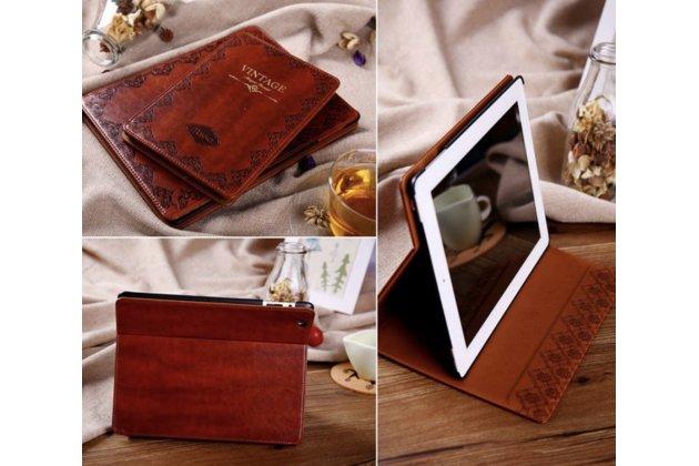 Чехол для iPad Mini из высококачественной натуральной итальянской кожи класса премиум Винтаж коричневый